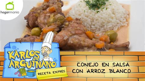 Receta de Conejo en salsa con arroz blanco por Karlos ...