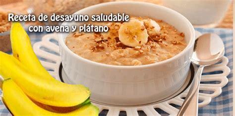 Receta de desayuno saludable con avena y plátano - Cocina ...