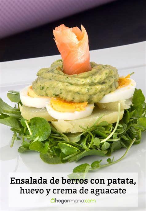 Receta de Ensalada de berros con patata, huevo y crema de ...