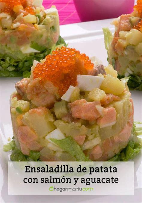 Receta de Ensaladilla de patata con salmón y aguacate ...