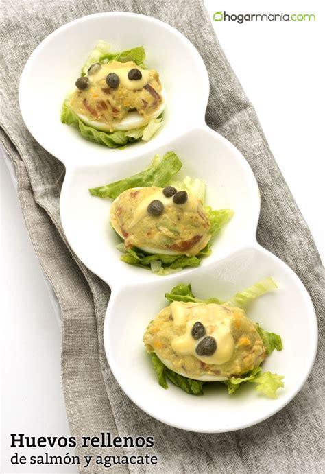 Receta de Huevos rellenos de salmón y aguacate - Karlos ...