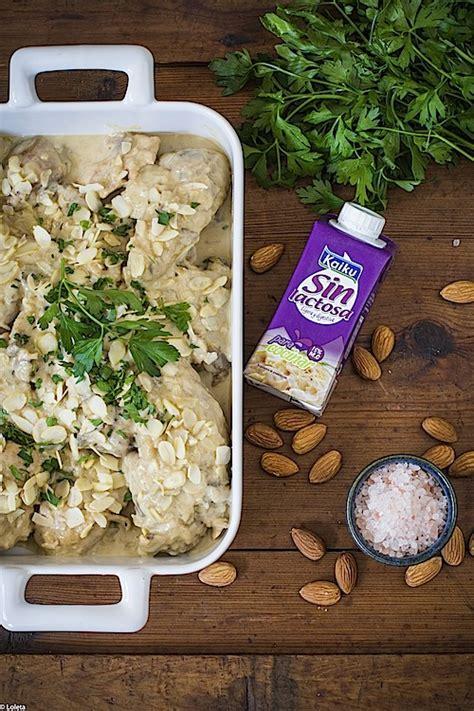 Receta de pollo con almendras sin lactosa