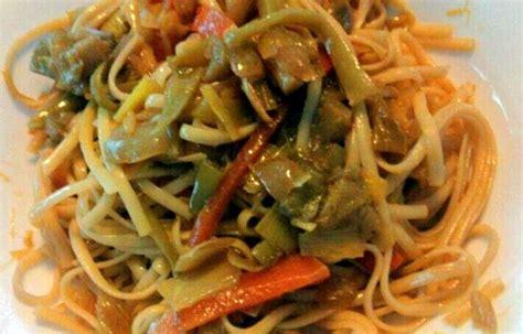 Receta de tallarines con verduras orientales