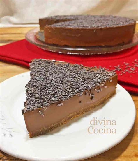 Receta de Tarta de chocolate fácil sin horno - Divina Cocina