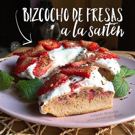 RECETA FITNESS: Bizcocho de fresas a la sartén ...