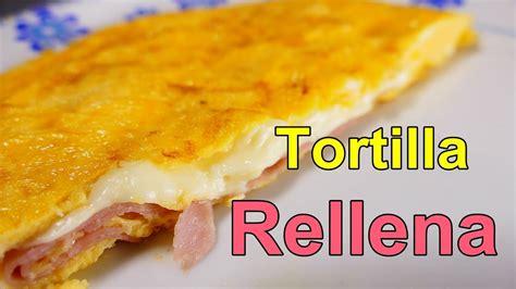 receta TORTILLA FRANCESA RELLENA DE JAMON Y QUESO ...