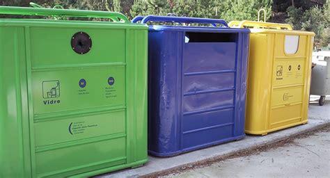 Reciclaje de residuos por colores