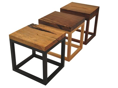 Reclaimed Solid Wood Accent Tables - Contemporary Rustic ...