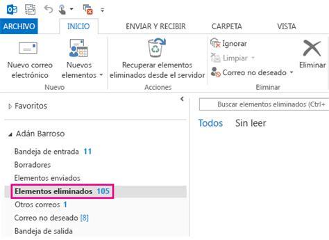 Recuperar elementos eliminados en Outlook para Windows ...