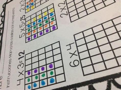 Recurso para multiplicar rellenado puntitos mediante ...