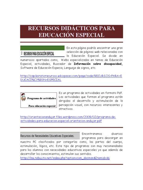 recursos educación especial
