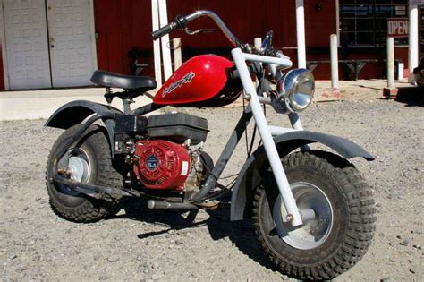 Red Mini Bike 5.5hp Honda type motor, in running condition ...