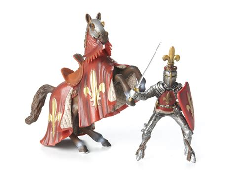 Red Prince on Reared Up Horse   Kids & Toys
