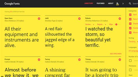 Redesigned Google Fonts
