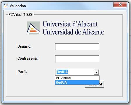 RedUA: connexió a PCVirtual UA  Accés Remot xarxa UA, Aula ...