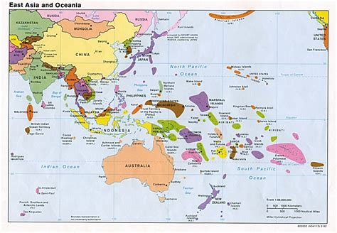 Reference Map of East Asia and the Pacific Islands