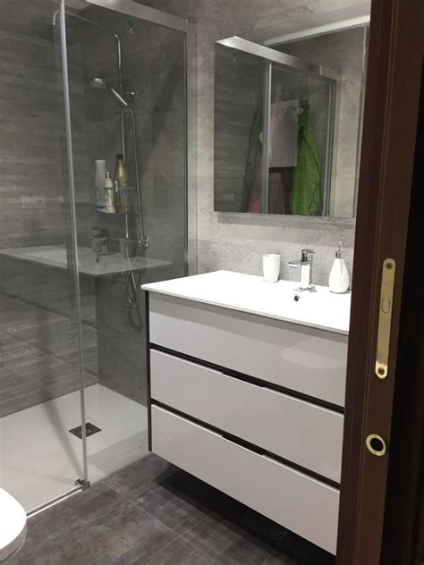 Reforma integral cuarto de baño con azulejo rectificado ...