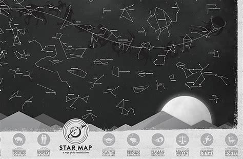Regalador.com - Mapa de constelaciones que brilla en la ...