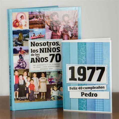 Regalo 40 cumpleaños: libro con tarjeta