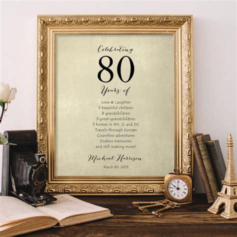 Regalo para la abuela el abuelo 80 regalo de cumpleaños de