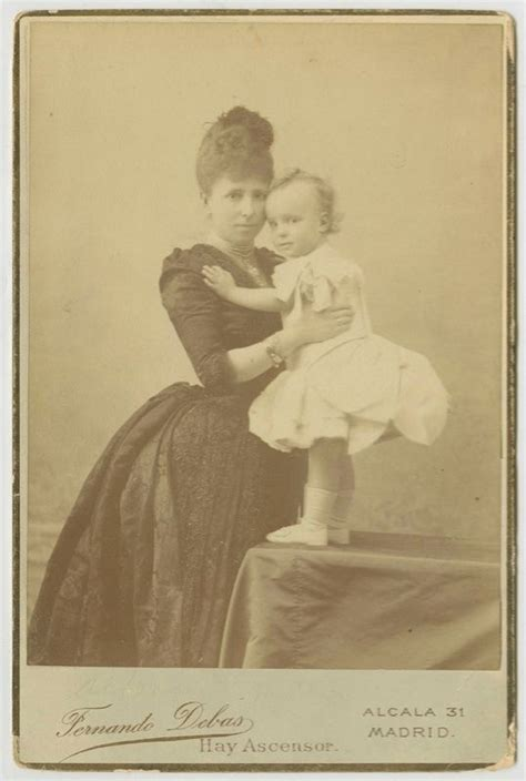 Regent Queen of Spain, Maria Cristina and son, future King ...