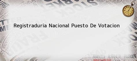 Registraduria Nacional Puesto De Votacion. Plebiscito en ...