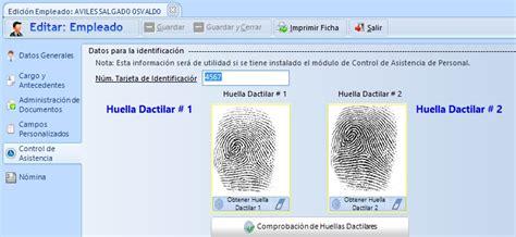 Registro de Huellas.