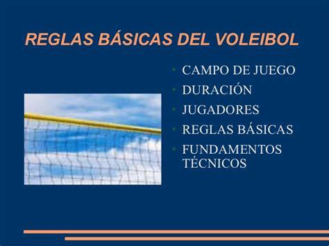 Reglas basicas del Voleibol