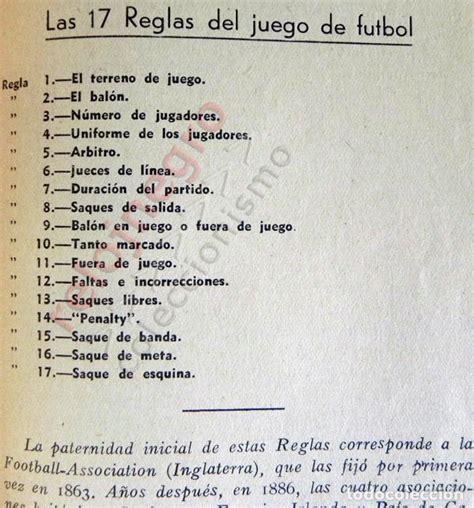 reglas de juego   año 1955   fútbol libro rfef   Comprar ...