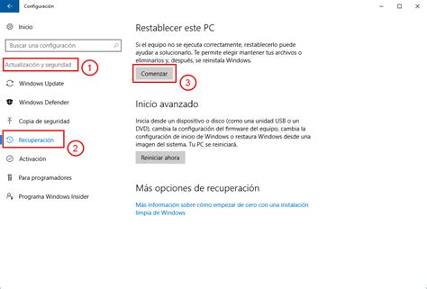 Reinstalar Windows 10 sin perder archivos