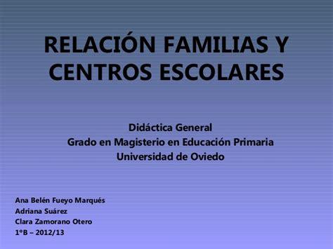 Relación familias y centros escolares