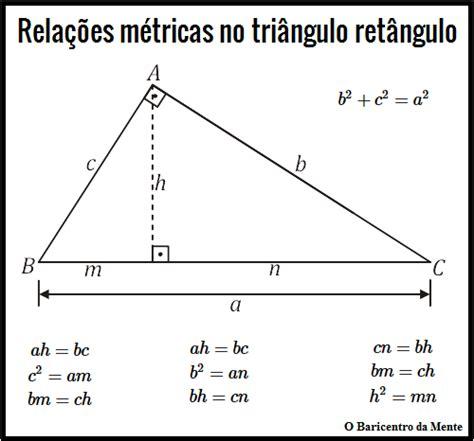 Relações métricas no triângulo retângulo | O Baricentro da ...