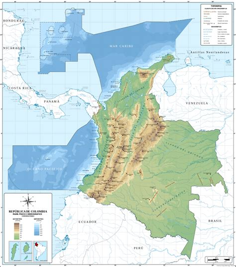Relieve de Colombia - Wikipedia, la enciclopedia libre