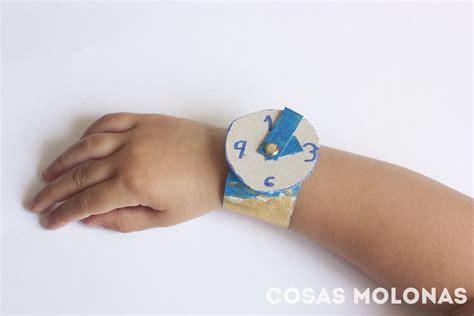 Reloj de pulsera de carton reciclado | Cosas Molonas | DIY ...