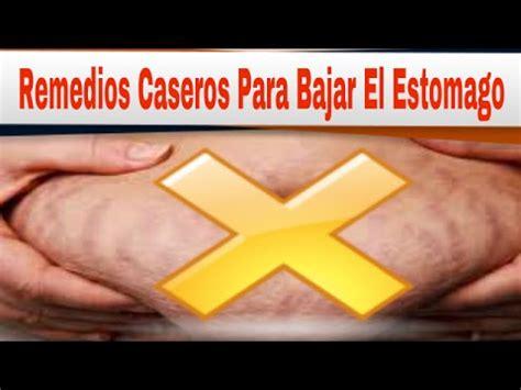Remedios Caseros Para Bajar El Estomago: 5 Remedios ...