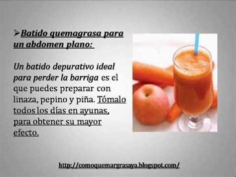 Remedios Caseros Para Perder Barriga | Tres remedios ...