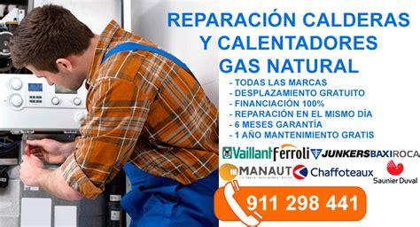 Reparación de calderas y calentadores de gas natural en Madrid