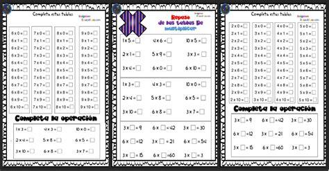 Repasamos las tablas de multiplicar ejercicios listos para ...