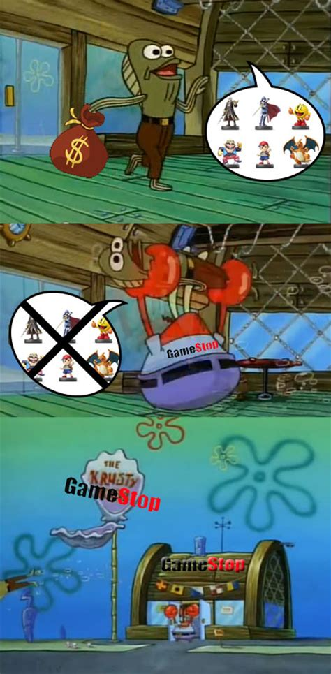 Repost from r/amiibo; Preorders at Gamestop : Spongebros