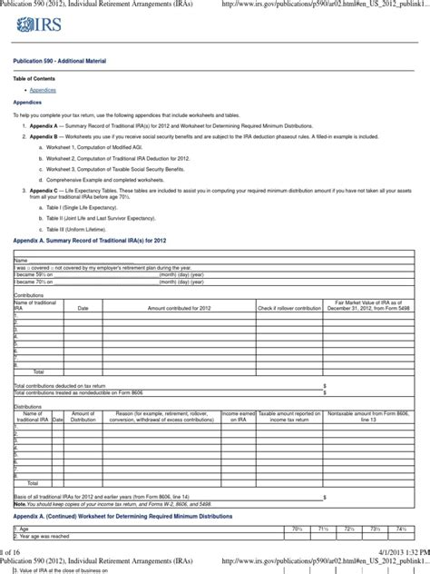 Required Minimum Distribution Worksheet   resultinfos