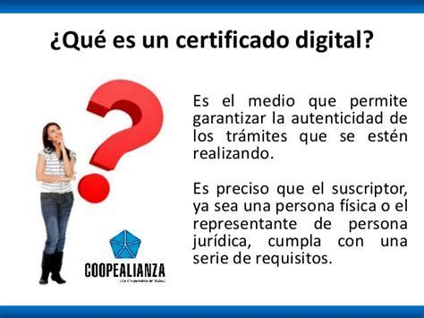 Requisitos para obtener un certificado digital
