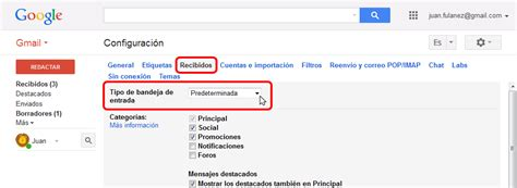 Resaltar correos. Gmail. Google Apps. Bartolomé Sintes Marco