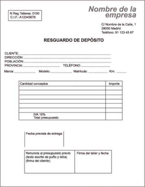 Resguardo de depósito y presupuesto - Madrid.org - Portal ...
