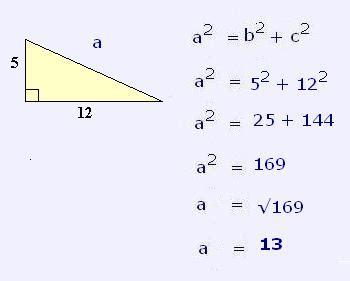 Resolución de triángulos con Teorema de Pitágoras ...