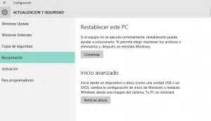 Restablecer windows 10 – Notas Informáticas