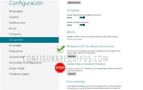 Restaura o reinstala tu PC / Tablet Windows 8 sin perder ...
