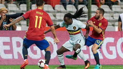 Resultado Bélgica   España  0 2  | Amistoso de selecciones