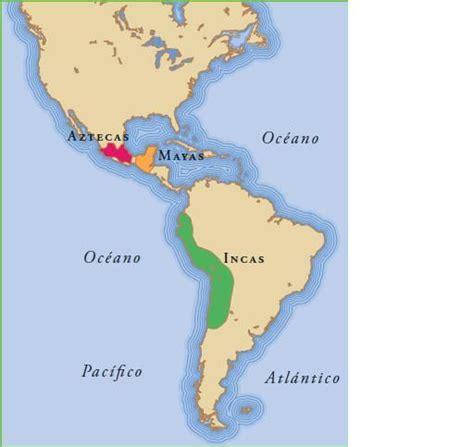 Resultado de imagen de mapa aztecas mayas e incas | Mapas ...