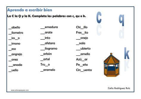 Resultado de imagen para ejercicios de ortografia c ...