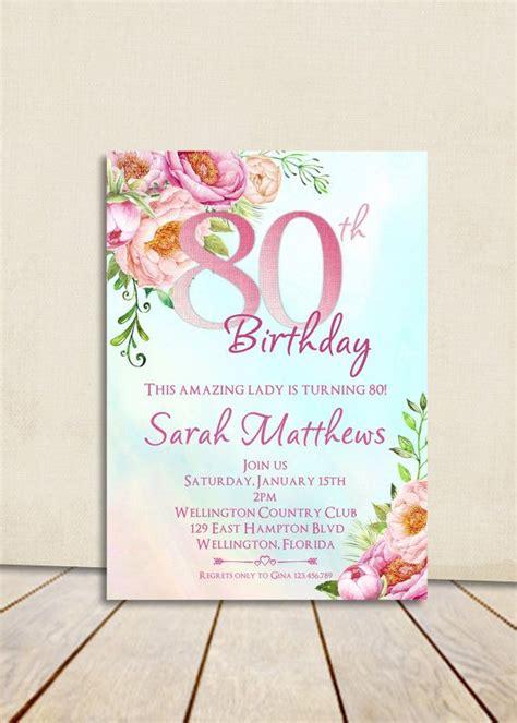 Resultado de imagen para invitaciones para cumpleños 80 ...